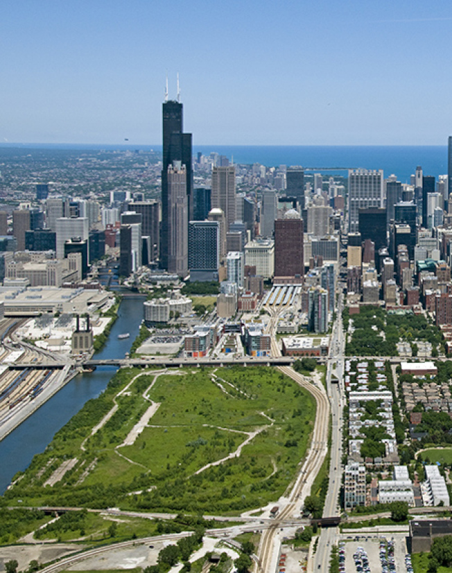 芝加哥開發商「Related Midwest」手中,有62英畝南環區的沿河空地,可作為亞馬遜第二總部的選址。(取自Related Midwest官網)
