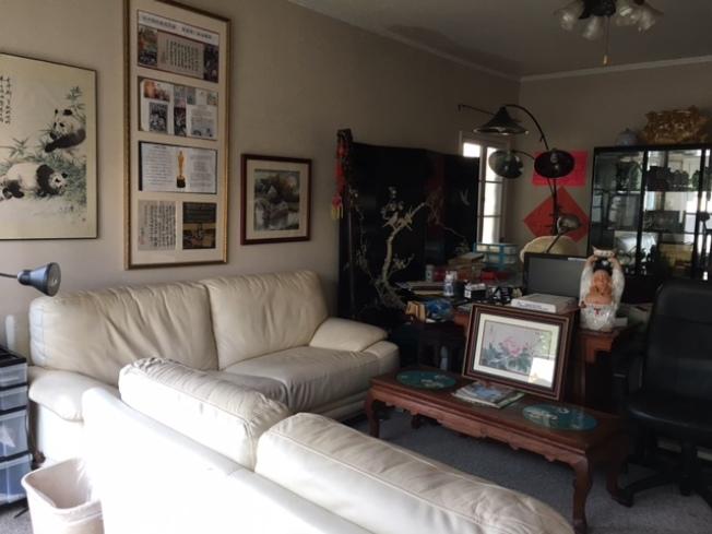 黎老先生的書房。(記者楊青/攝影)