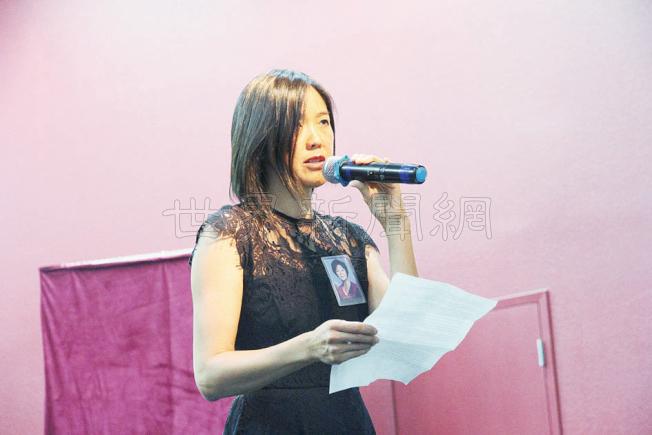 胡瓊君的女兒Tina Frederick懷念母親,也希望大家能繼續胡瓊君的夢。(記者李榮/攝影)