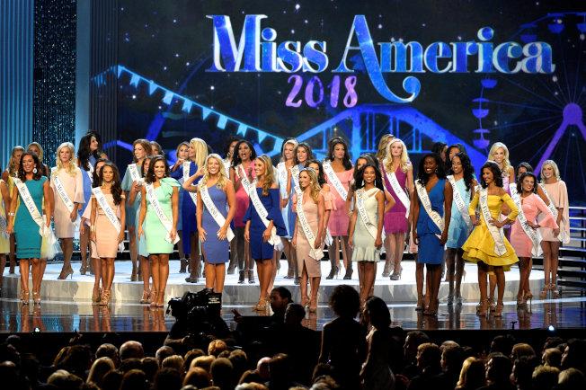 一年一度的「美利堅小姐」選美大會9日與10日天在新澤西州大西洋城舉行。 (路透)