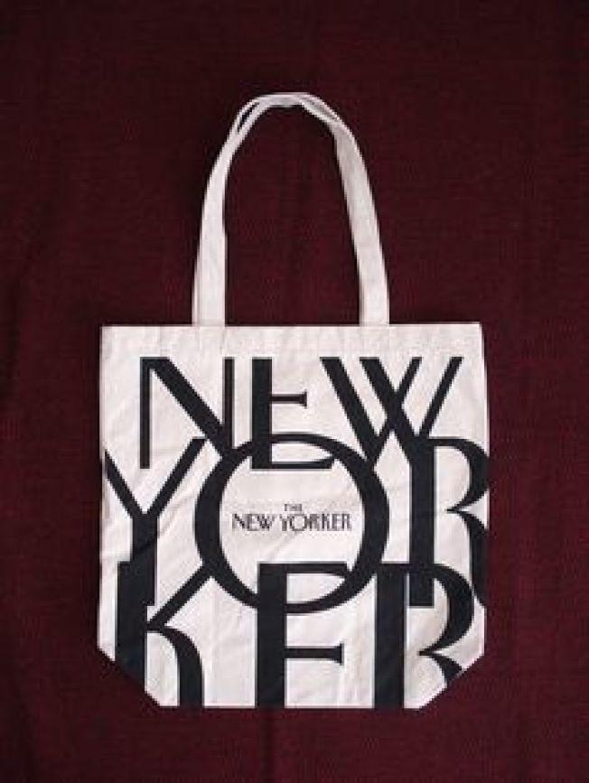 「紐約客」雜誌的帆布袋,是該雜誌歷來最受歡迎的「免費贈品」,迄今已送出50萬個。(網路圖片)