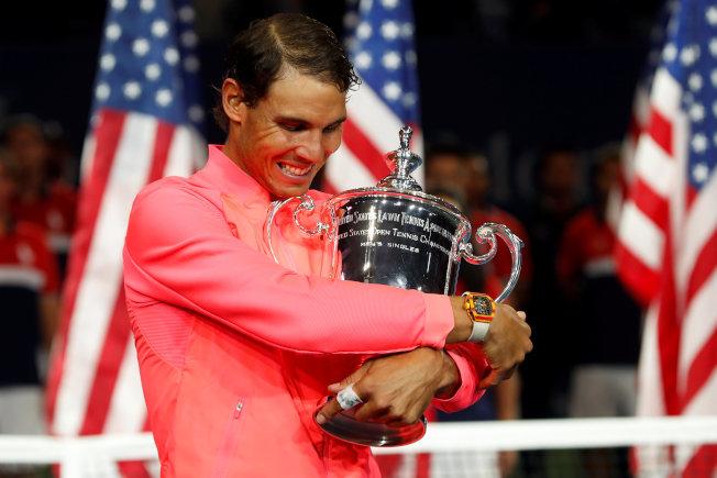 納達爾拿下今年美網冠軍。(路透)