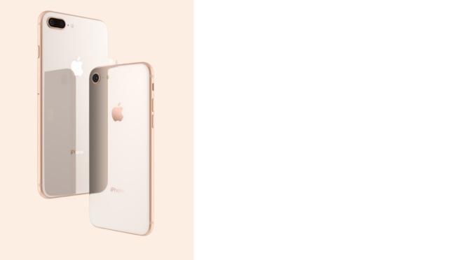 iPhone 8、iPhone 8 Plus採用玻璃機身設計。圖/摘自蘋果官網