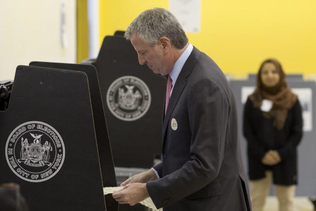 白思豪為自己投票。(美聯社)