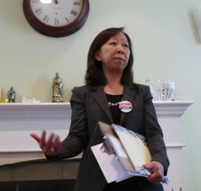 今年5月宣布參選牛頓市長的市議員馬惠美12日初選以高票落選。(記者唐嘉麗/攝影)