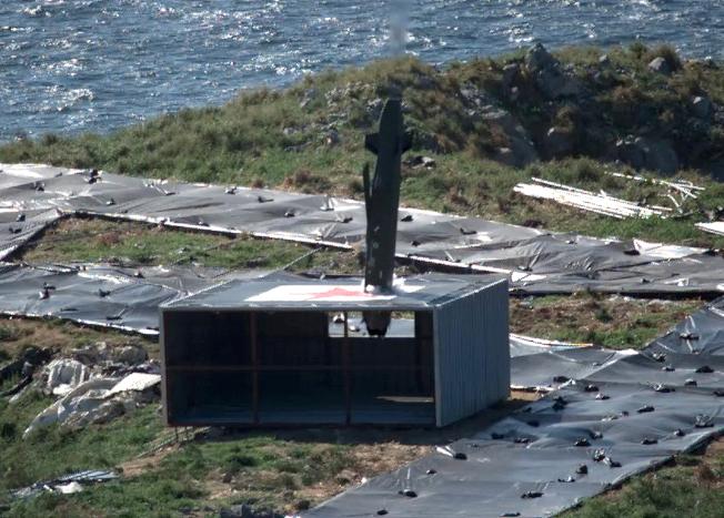 南韓首次實彈發射「金牛座」遠程空對地巡航導彈,並擊中目標。(美聯社)