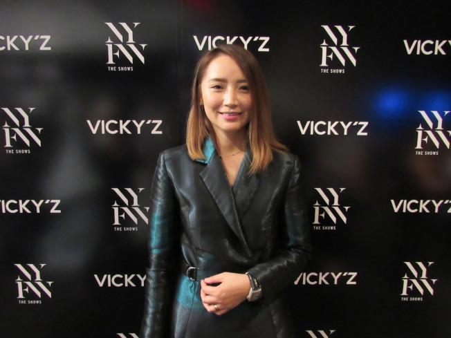 許馨尹創立VICKY ZHANG品牌,短短幾年就在國際間打響知名度。(記者顏嘉瑩/攝影)