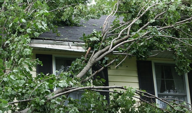 風災受害屋主可向保險公司申報索賠。(All State保險提供)