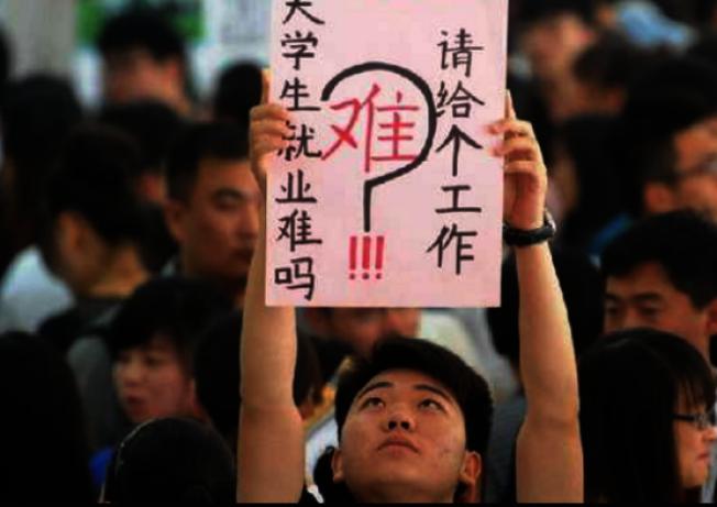 一份新調查報告指出,中國應屆畢業生起薪平均4854元。這已和台灣大學生起薪差不多。圖擷自今日科學