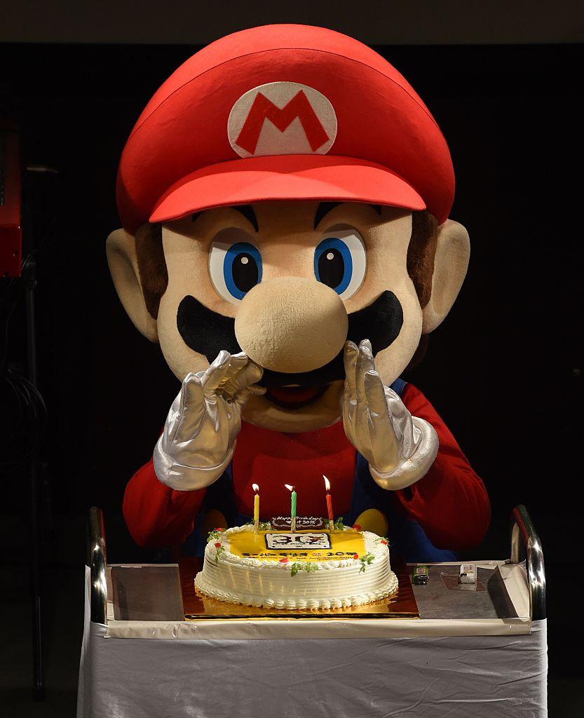 2015年9月13日瑪莉歐歡度他的30歲生日。(Getty Images)