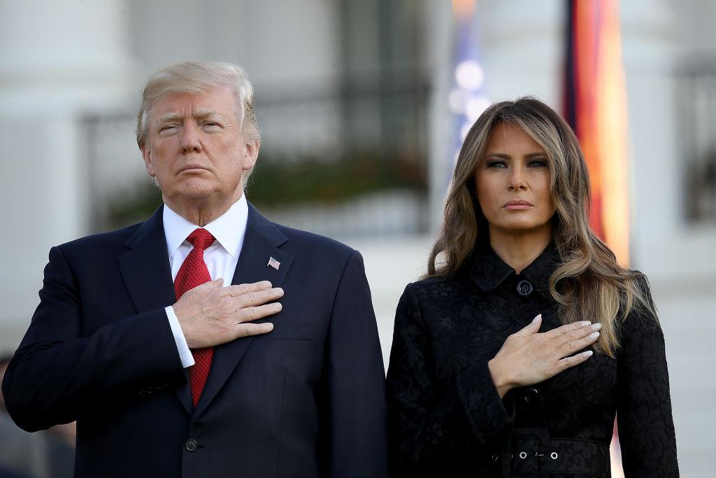 總統川普與第一夫人梅蘭妮亞出席五角大廈的911紀念活動(Getty Images)