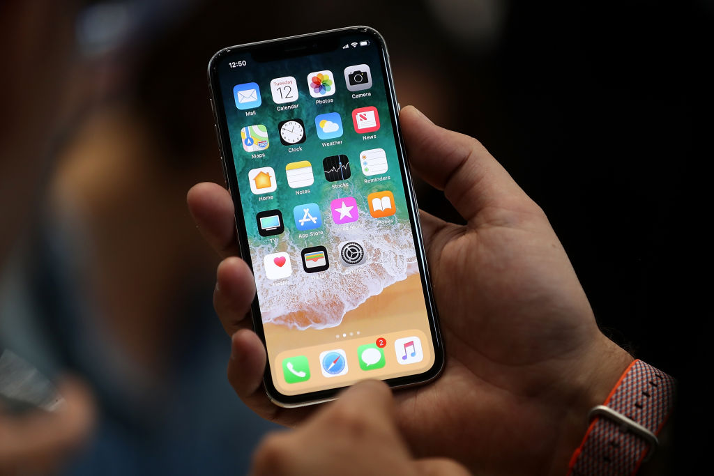 2017年最新的頂級iPhone X(Getty Images)