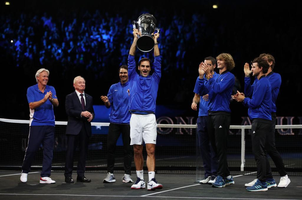 歐洲隊喜迎首屆拉佛盃(Laver Cup)冠軍。(Getty Images)