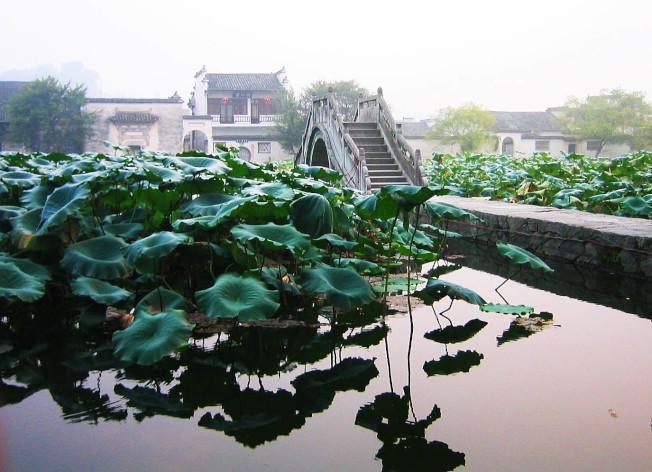 臥虎藏龍影片拍攝地,李慕白牽馬入宏村。