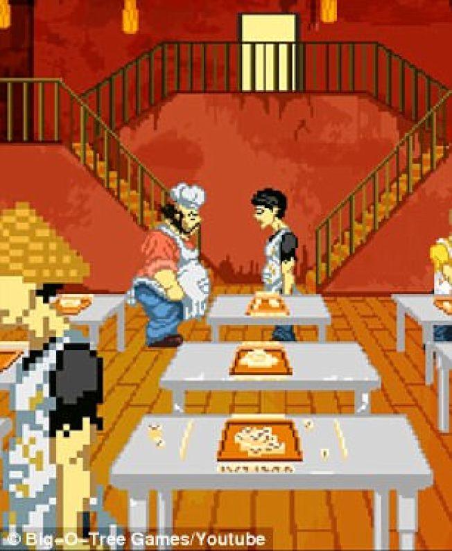 「骯髒中餐館」遊戲描繪餐廳內非法賭博的刻板印象。  (遊戲截圖)