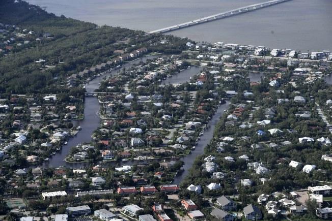 佛州沿海的Keys遭厄瑪颶風蹂躪。(EPA)