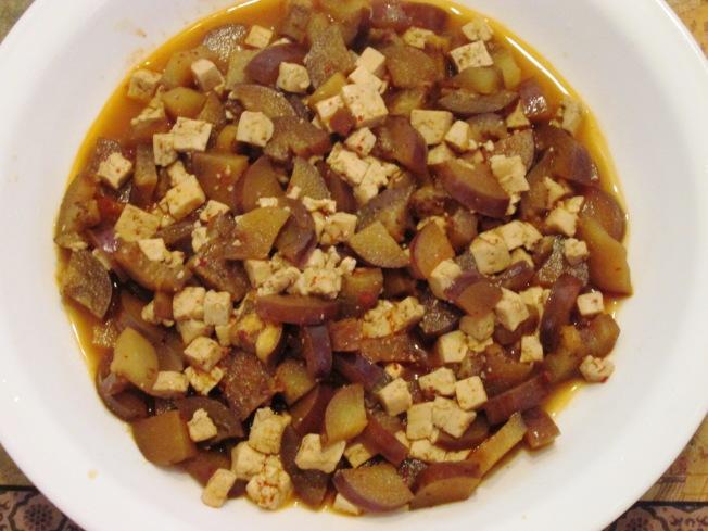 辣味茄子豆腐2