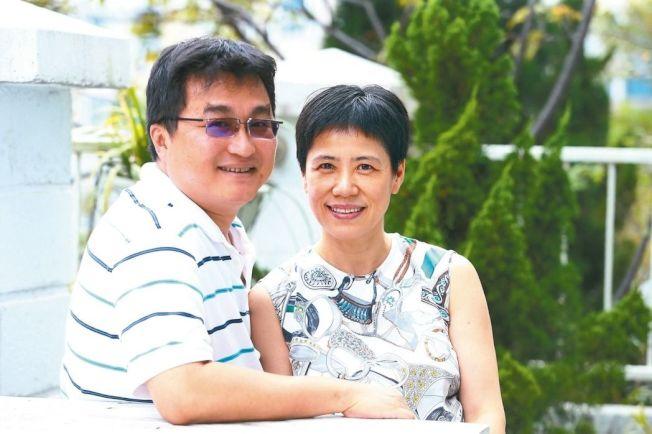 袁曉麗與夫婿徐彥。 記者程宜華/攝影