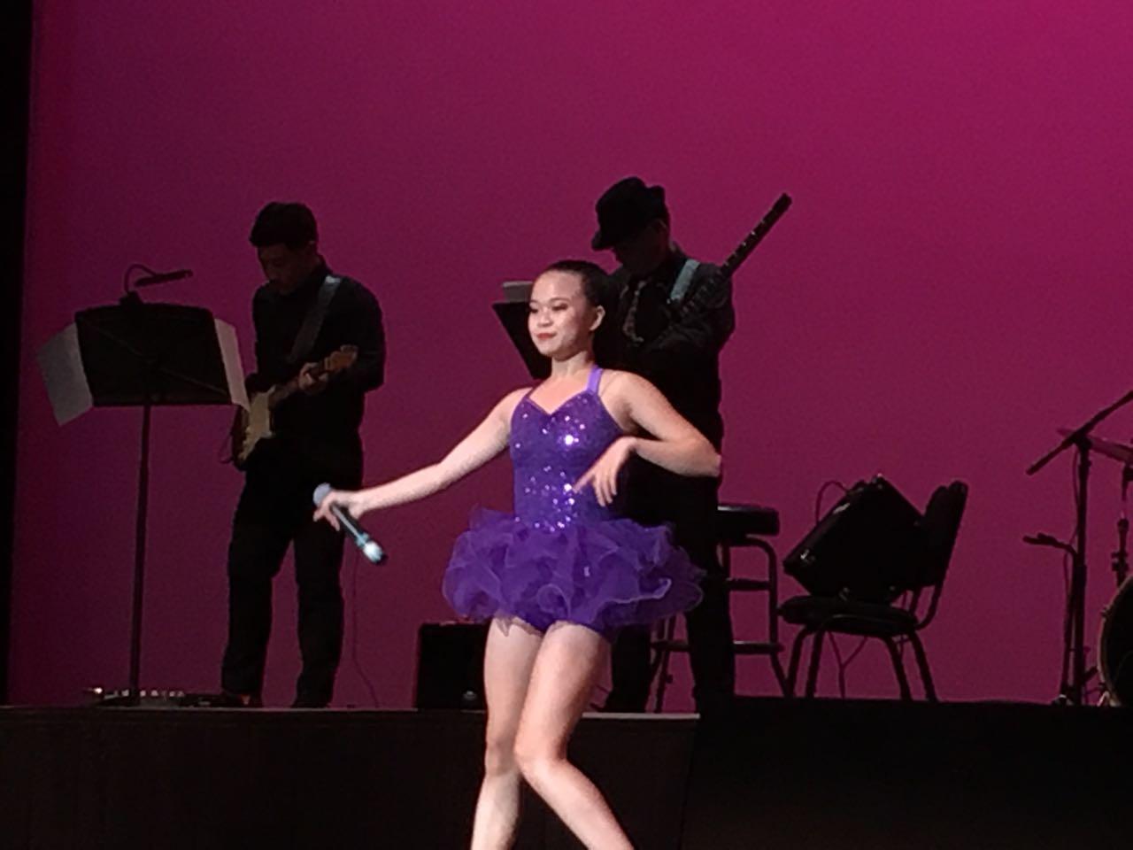 Sabrina的芭蕾舞蹈表演。(記者王若然/攝影)