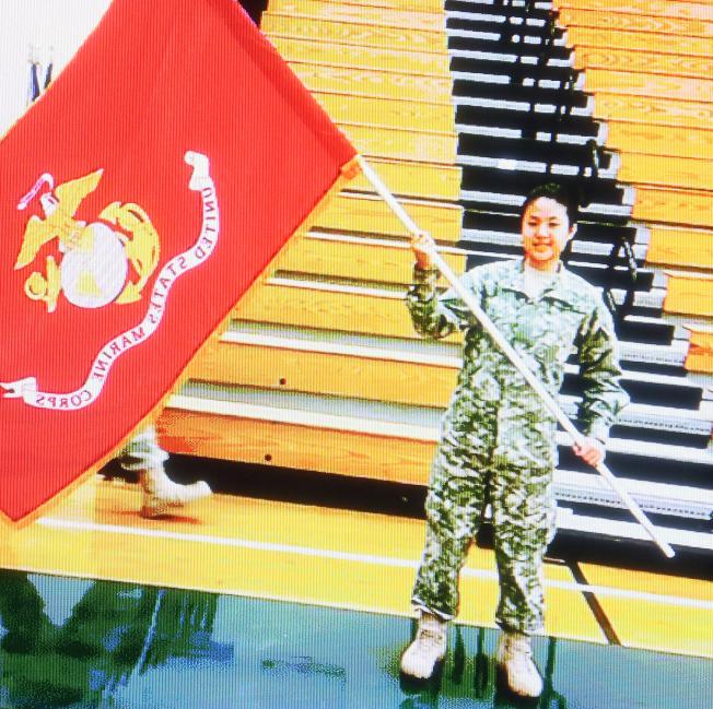 劉美芸生前以身為軍人為國家服務為榮,並已將海軍陸戰隊視為她第二個家。(記者張蕙燕/攝影)