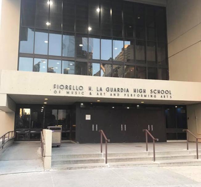 拉瓜地亞音樂藝術表演高中一名華裔學生揚言攻擊學校。(取自臉書)