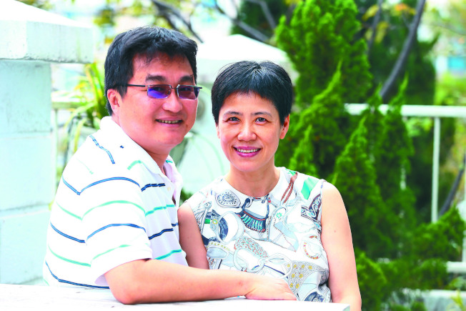 袁曉麗(右)與夫婿徐彥。(記者程宜華/攝影)