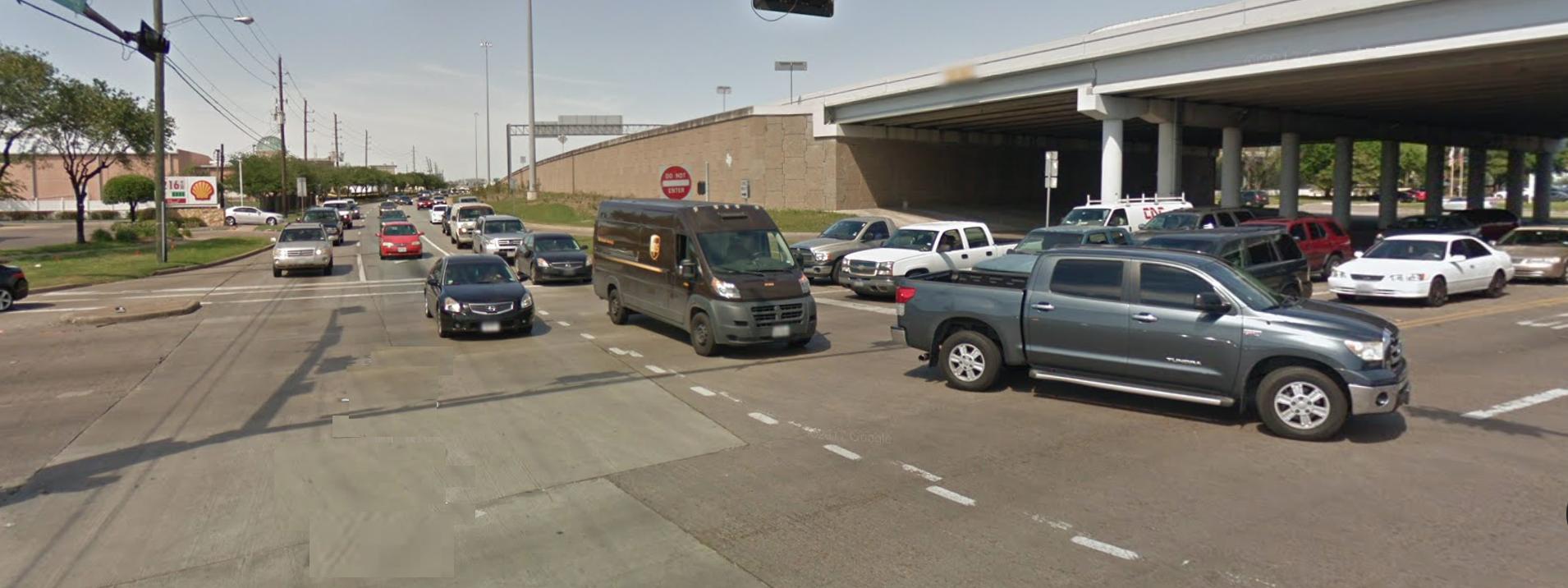 中國城附近的W Sam Houston Parkway與Bissonet街交界區域位列全德州最危險十字路口榜首。(取材自Google地圖)