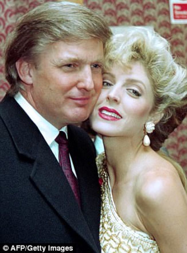 川普的第二任妻子梅波斯,被第一太太蔑視為「歌舞女郎」。(Getty Images)