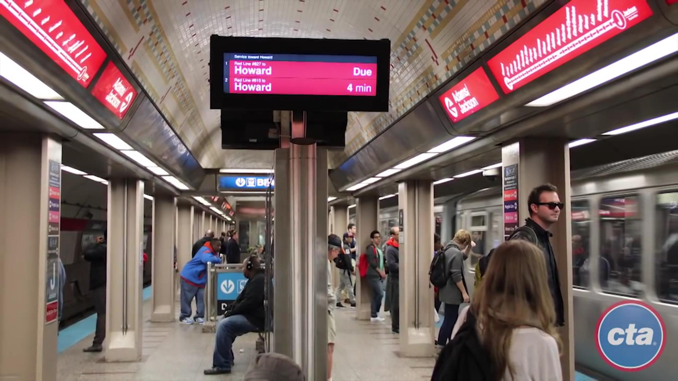 至少兩名中國留學生,在芝加哥捷運車廂、捷運站附近被搶劫。(CTA官網截圖)