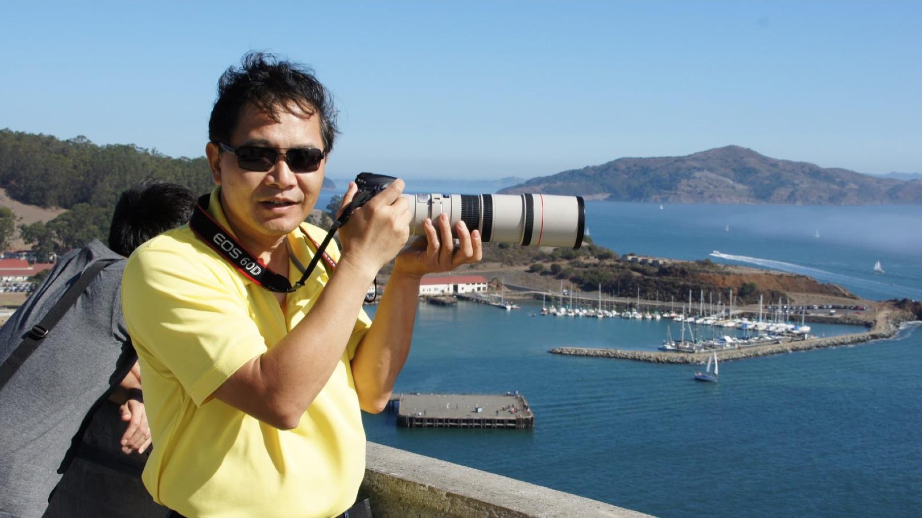 Jason熱愛攝影,在灣區攝影圈小有名氣。(友人提供)