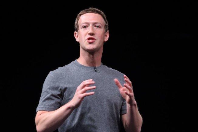 查克柏格宣布,臉書捐款100萬,用來北灣救災之用。(Getty Images)