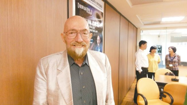 美國加州理工學院天文物理教授索恩因擔任電影「星際效應」首席科學顧問而為大眾所知。 記者陳皓嬿/攝影