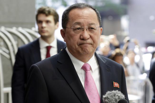 北韓外長李容浩指控,川普的言論挑起戰火。(美聯社)