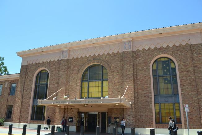 聖荷西的Diridon火車站。(記者張毓思/攝影)