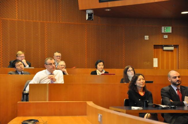 來自中美兩國的學術界、企業人士參加這次峰會。(記者王若然/攝影)