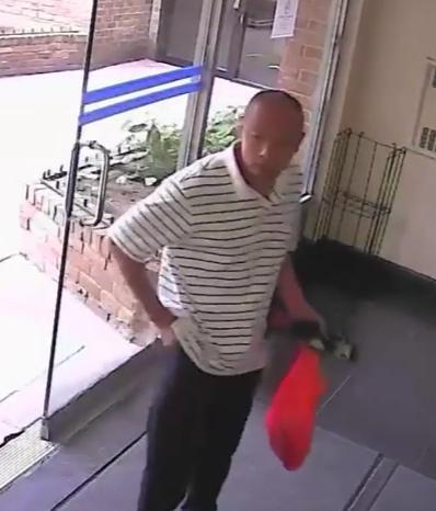華裔搶匪的影像。(警方提供)