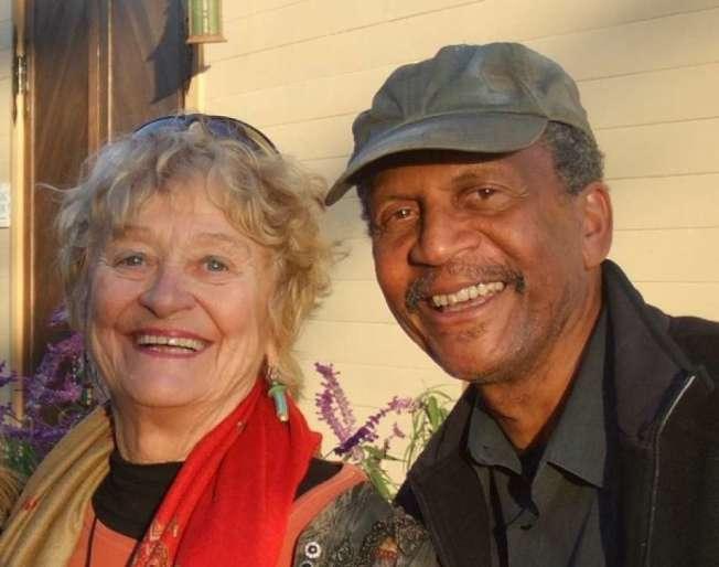 莎拉和她的丈夫金布斯。(美聯社)
