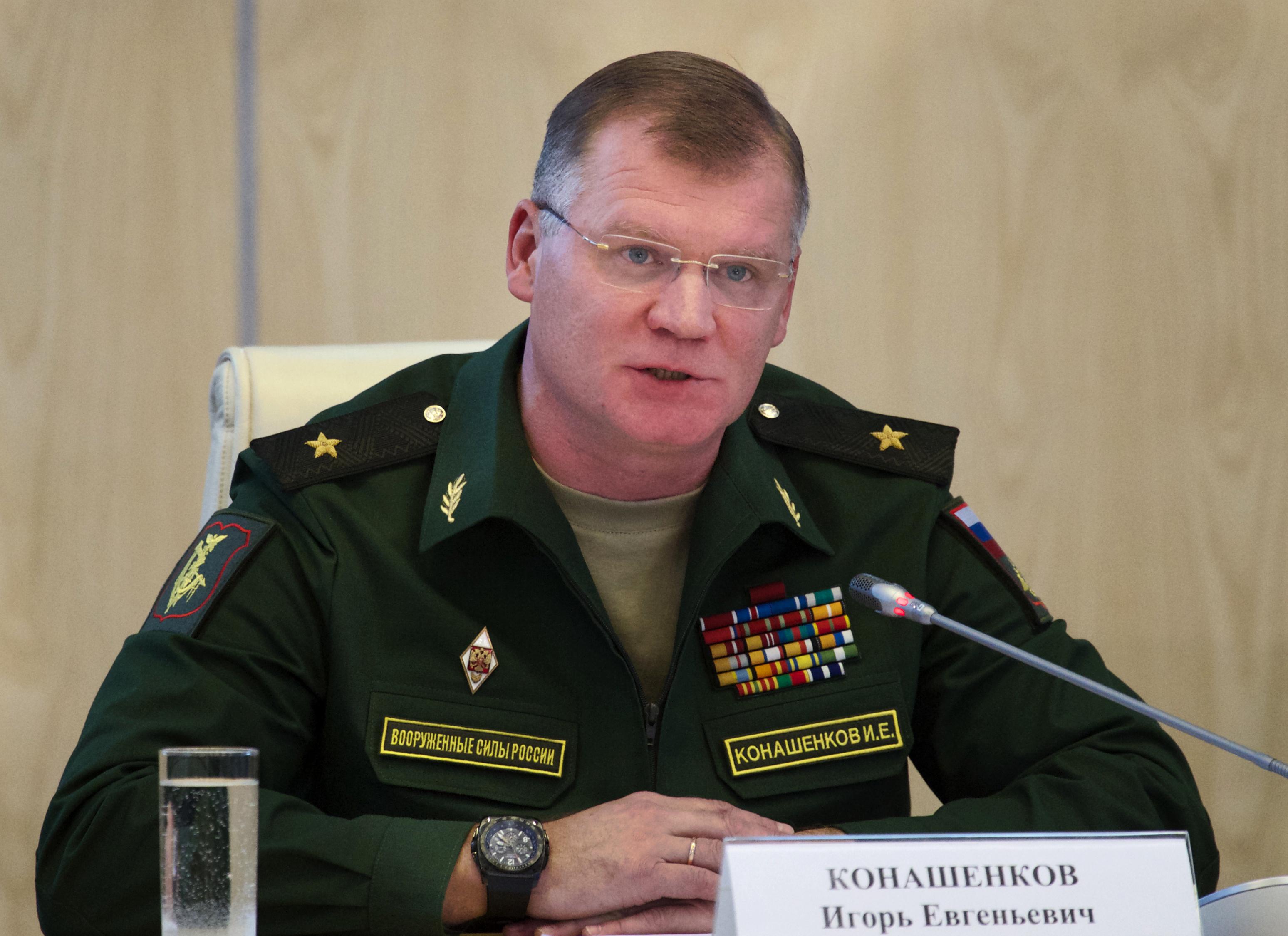 俄羅斯國防部發言人科納申科夫(Igor Konashenkov)。(美聯社)