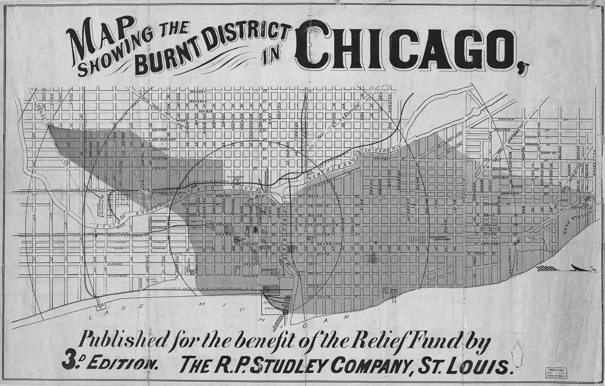 1871年的世紀大火燒毀了芝加哥廣大區域。(Getty Images)