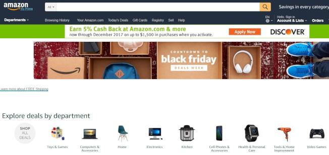 亞馬遜網站黑五特賣已啟動。(網路圖片)