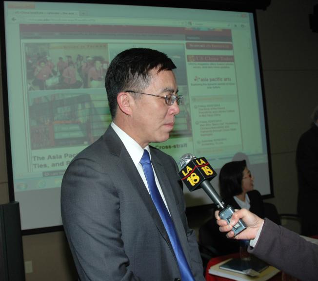 里奇蒙大學文學院政治學教授王維正。(本報當案照)