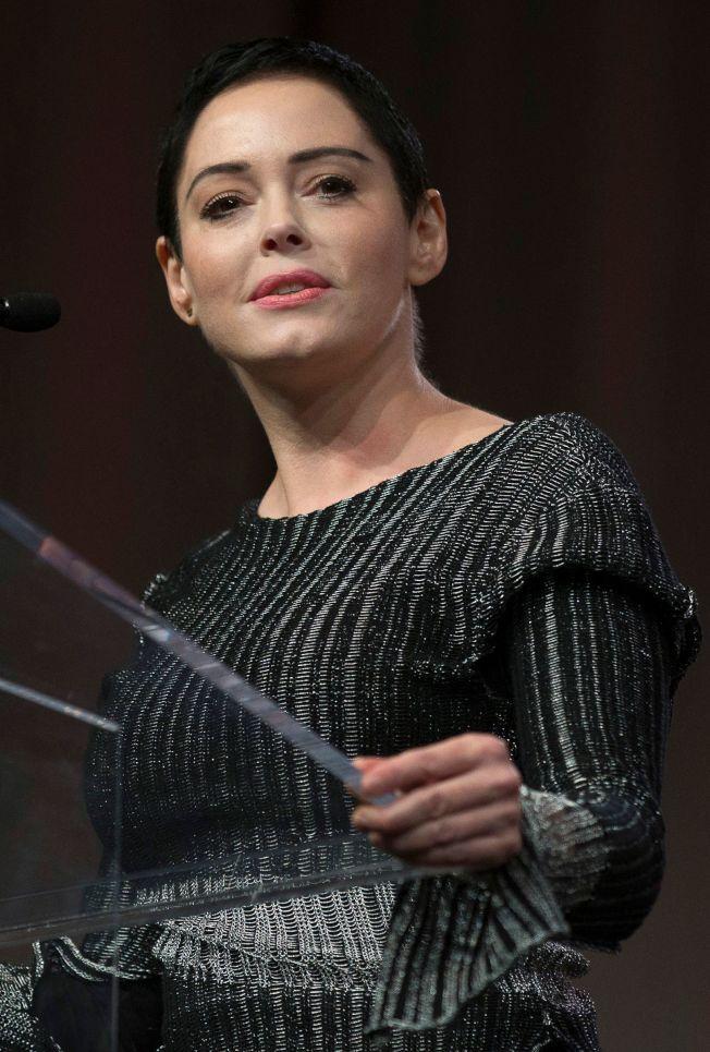 女星蘿絲麥高文出書揭露好萊塢重量級製片溫斯坦性侵。(Getty Images)