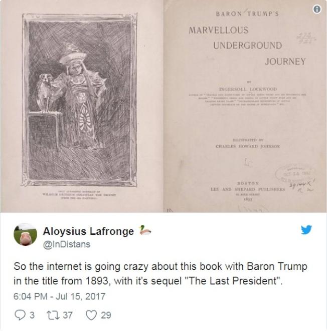 《巴倫‧川普的地下之旅》的續集叫做《最後的總統》。