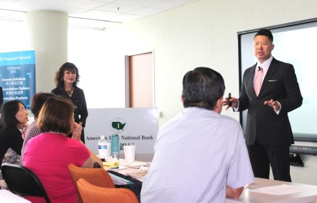 AIG美亞集團亞洲市場副總裁郭鑫愷主講。