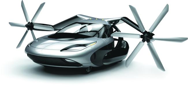 美國太力公司名為TF-X的油電兩用概念飛行汽車,號稱在汽車模式下可正常行駛,到了飛行模式,它摺疊的機翼就能夠伸展出來,還可垂直起降。(取材自Terrafugia官網)