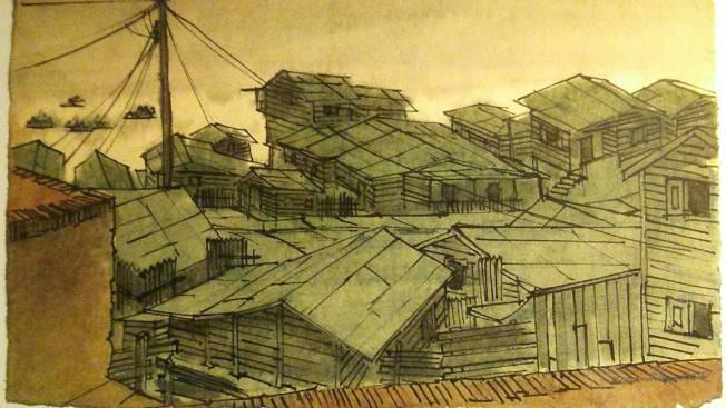 羅德里格茲珍藏的拉佩拉風景畫。(羅德里格茲提供)