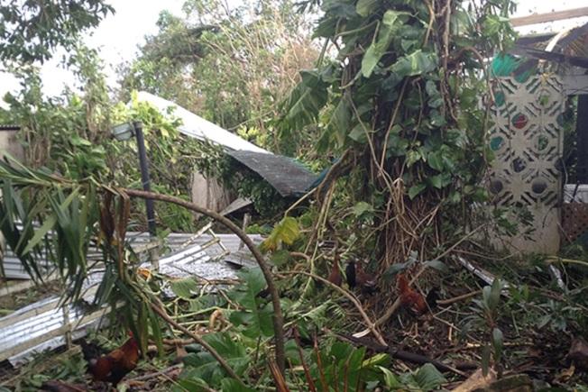 坎波在波多黎各的老家全毀。(坎波提供)