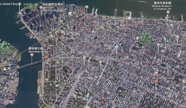 私家偵探在大城市找人,就像大海撈針一樣困難。(谷歌地圖)