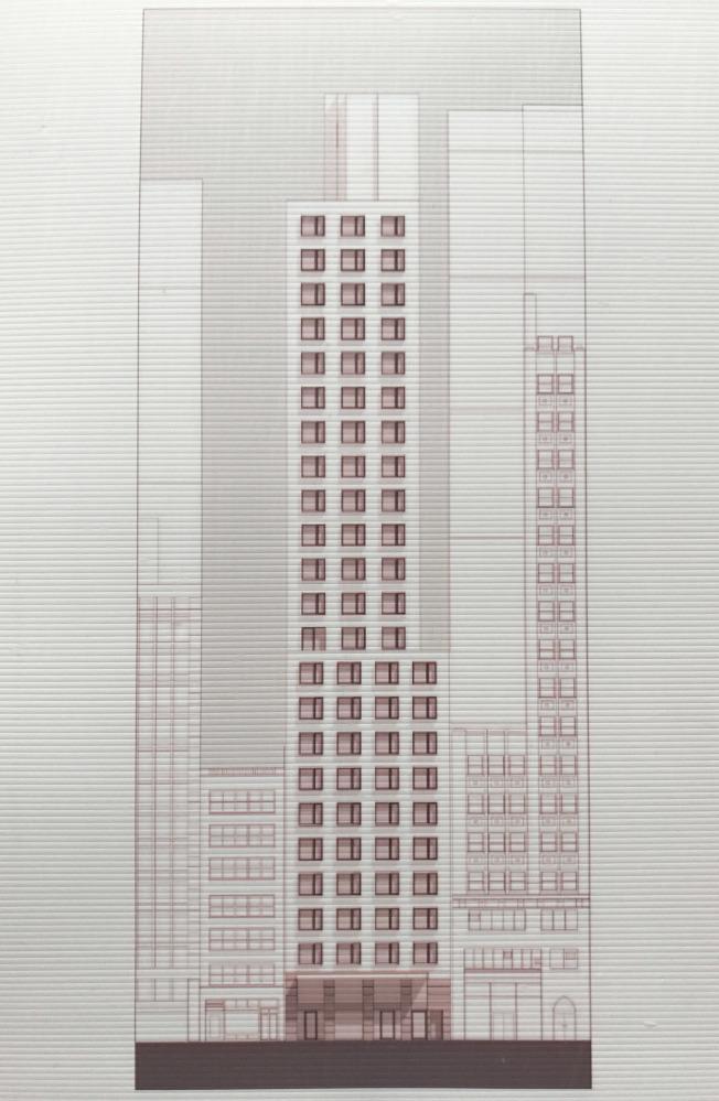 Bernstein Real Estate開發的西29街211號,將成為紐約市第二高的被動式節能標準建築。(記者俞姝含/攝影)