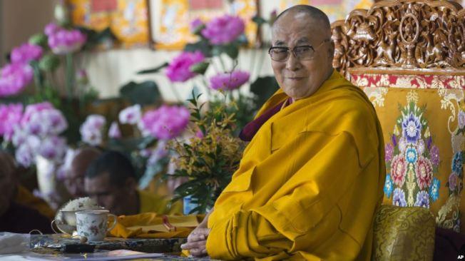 達賴喇嘛本月2日在印度達蘭薩拉出席活動。(美聯社)
